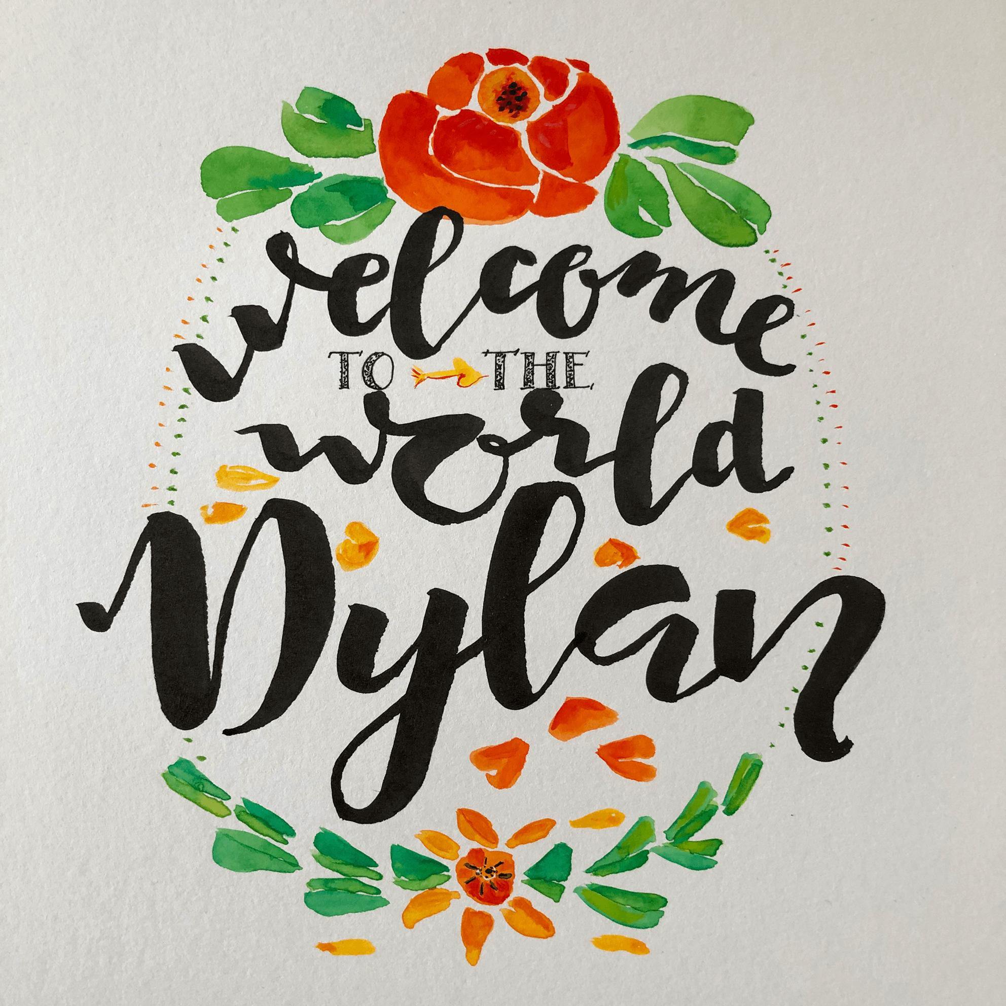 LA_Aquarell_Dylan_Geburtskarte